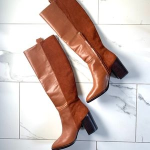 Zara Leather & Suede High Heeled Boots